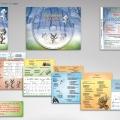 Illlustrations et maquette CD - Livret 12 pages  3 gros loups