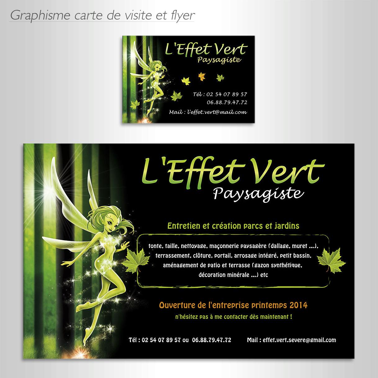 Graphisme Carte De Visite Et Flyer Leffet Vert