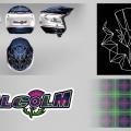 Malcolm Dudéfant casque trial-logo